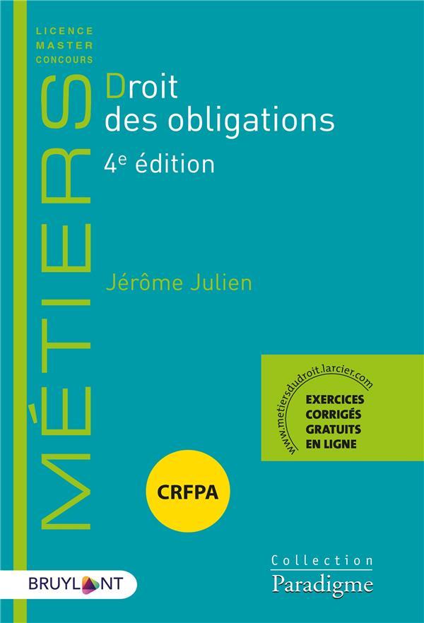 DROIT DES OBLIGATIONS (4E EDITION)