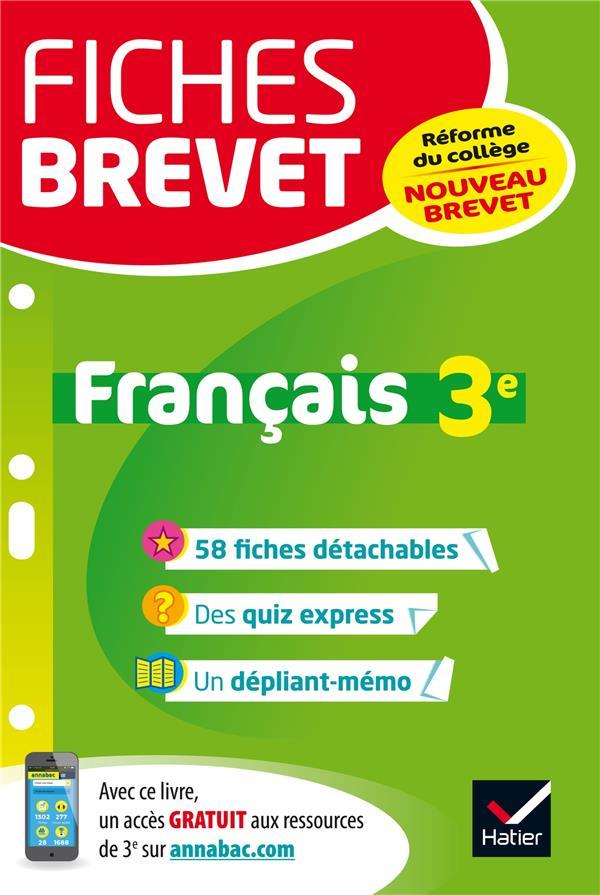 Dauvin Jacques - FICHES BREVET FRANCAIS 3E - FICHES DE REVISION POUR LE NOUVEAU BREVET