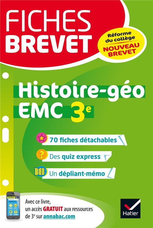 FICHES BREVET HISTOIRE-GEOGRAPHIE EMC 3E Holstein Florence Hatier