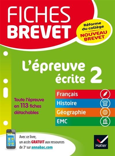 FICHES BREVET  -  L'EPREUVE ECRITE 2