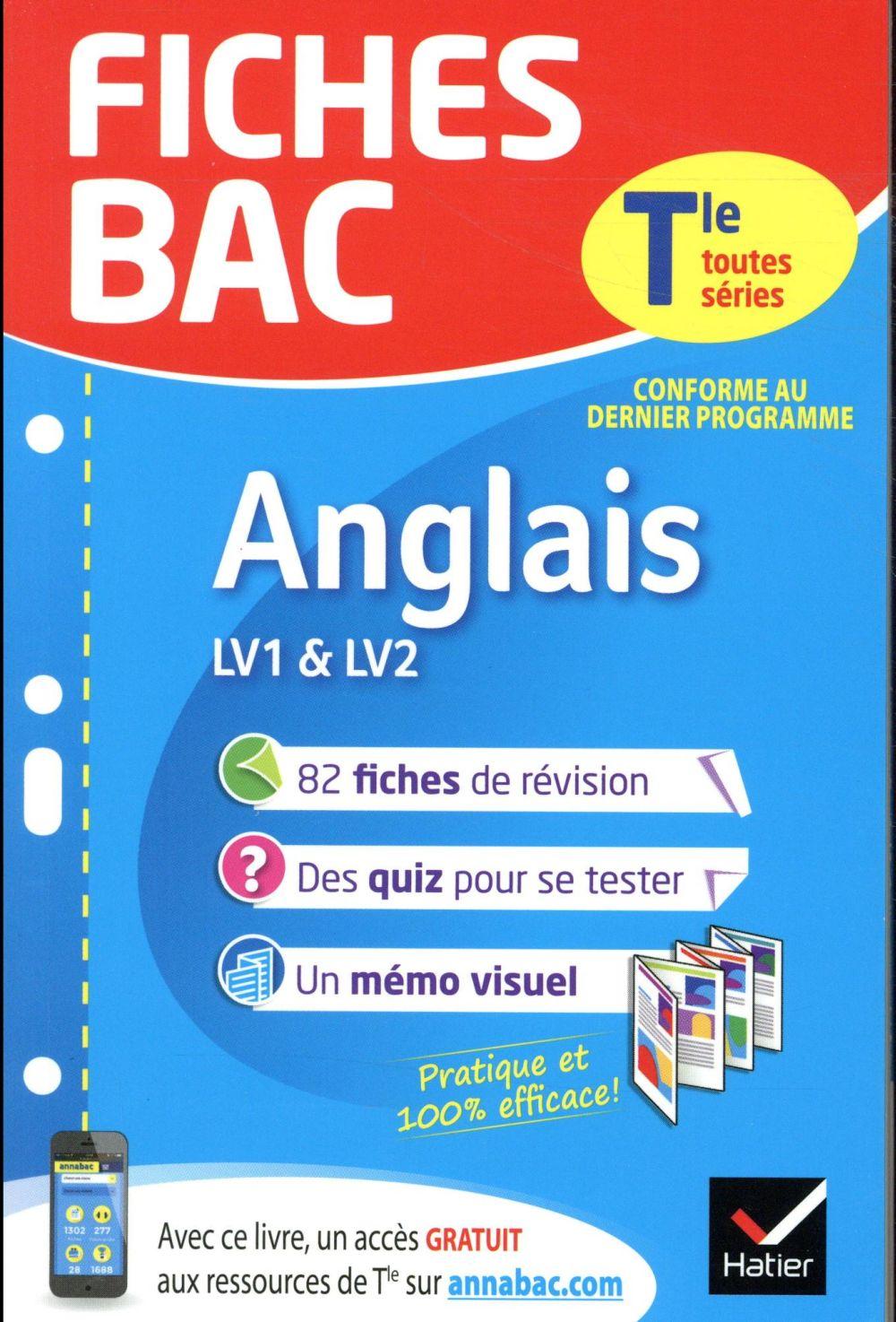 - FICHES BAC  -  ANGLAIS TERMINALE (LV1 et LV2)
