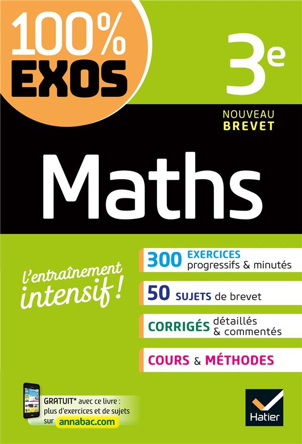 MATHS 3E - EXERCICES RESOLUS DHONDT DOROTHEE HATIER SCOLAIRE