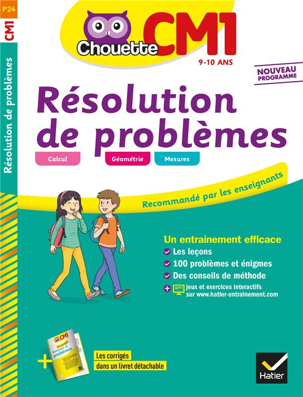 CHOUETTE ENTRAINEMENT RESOLUTION DE PROBLEMES CM1