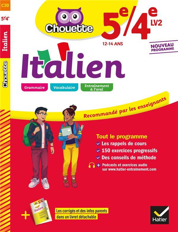 CHOUETTE ENTRAINEMENT T.20  -  ITALIEN  -  5E4E LV2 (A1 VERS A2)  -  CAHIER D'ENTRAINEMENT ET DE REVISION PILLET, VALENTINE HATIER SCOLAIRE
