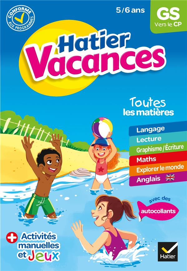TRAN-DUC, MARIE-HELENE - HATIER VACANCES  -  GS VERS LE CP (EDITION 2020)