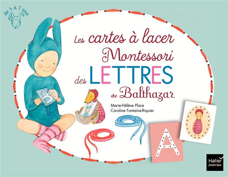 LES CARTES A LACER MONTESSORI DES LETTRES DE BALTHAZAR