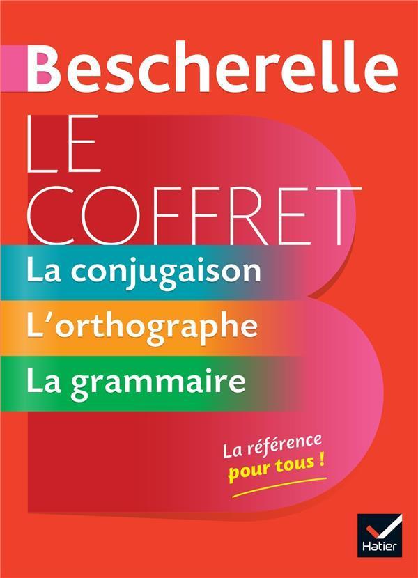 BESCHERELLE  -  LE COFFRET DE LA LANGUE FRANCAISE  -  LA CONJUGAISON, L'ORTHOGRAPHE, LA GRAMMAIRE DELAUNAY/KANNAS HATIER SCOLAIRE