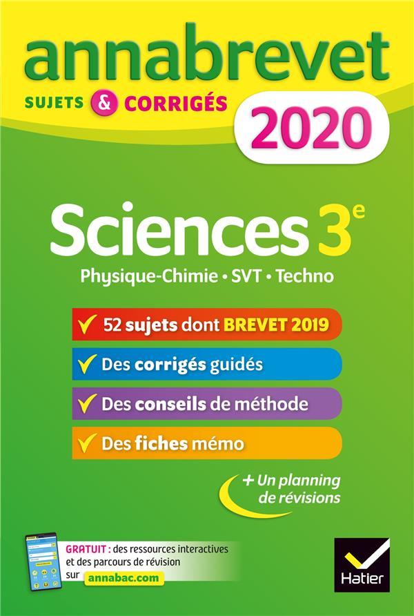 ANNABREVET  -  SCIENCES  (EDITION 2020) JEANNIN/MADANI HATIER SCOLAIRE