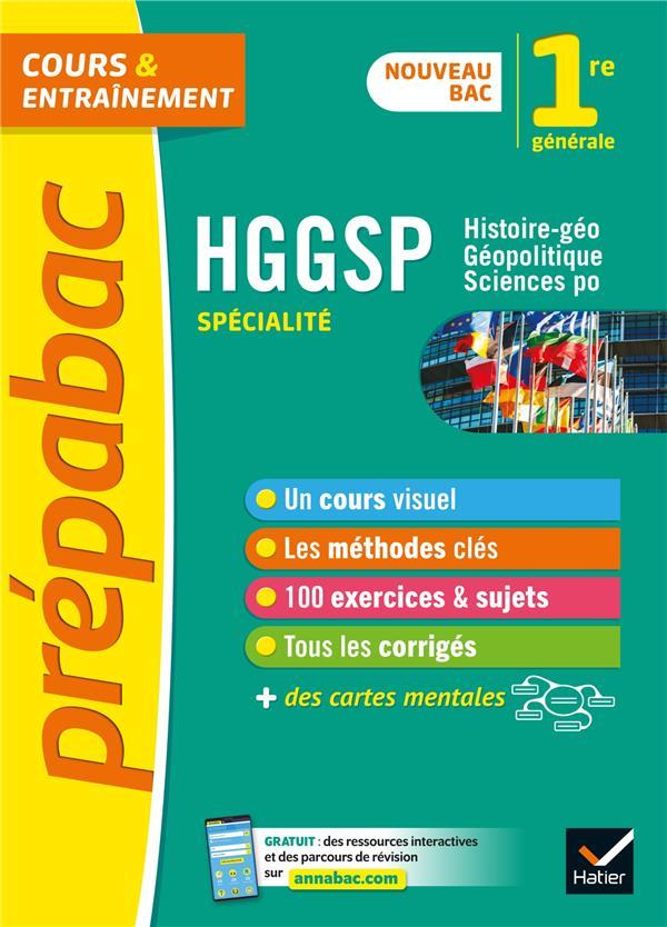 PREPABAC COURS et ENTRAINEMENT  -  HISTOIRE-GEO, GEOPOLITIQUE ET SCIENCES POLITIQUES  -  1RE DJIBRE/GAILLARD HATIER SCOLAIRE