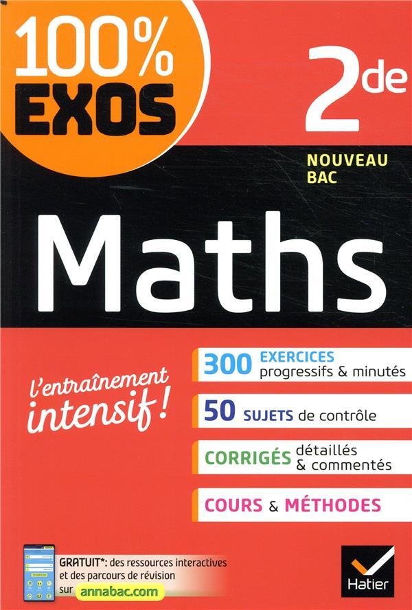 100% EXOS  -  MATHS  -  2NDE DARRE LAURENT HATIER SCOLAIRE