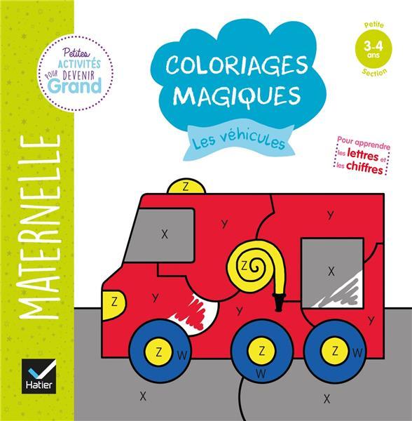 COLORIAGES MAGIQUES  -  LES VEHICULES