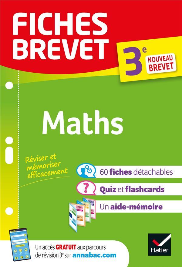 FICHES BREVET  -  MATHS  -  3E