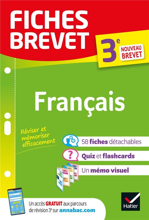 FICHES BREVET  -  FRANCAIS  -  3E