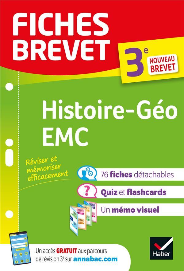 FICHES BREVET  -  HISTOIRE-GEOGRAPHIE, EMC  -  3E