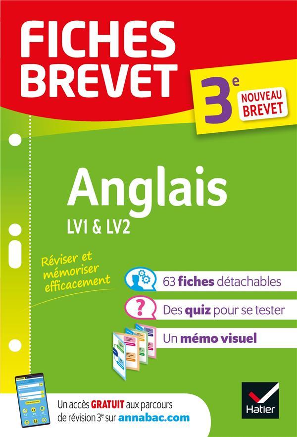 FICHES BREVET  -  ANGLAIS  -  3E