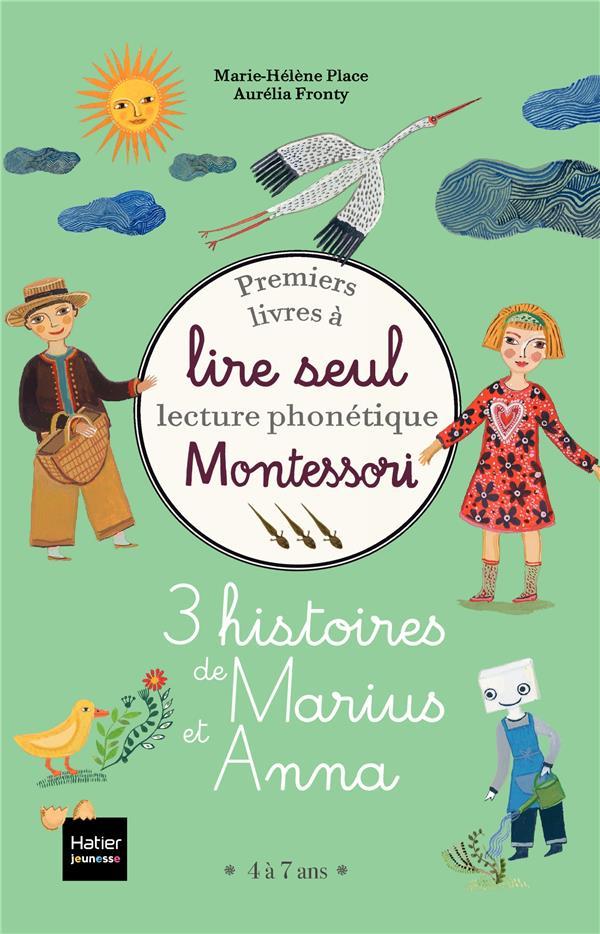 COFFRET PREMIERS LIVRES A LIRE SEUL - 3 HISTOIRES DE MARIUS ET ANNA NIVEAU 3 PEDAGOGIE MONTESSORI