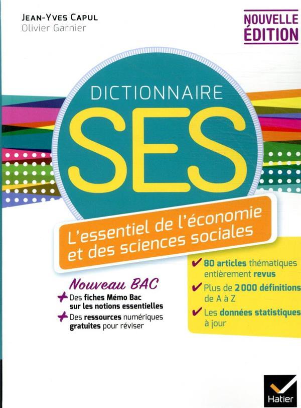 DICO SES - DICTIONNAIRE D-ECON CAPUL/GARNIER HATIER SCOLAIRE