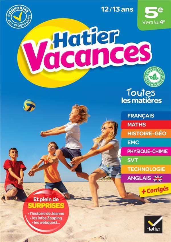 HATIER VACANCES  -  5E VERS LA 4E (EDITION 2020) XXX HATIER SCOLAIRE