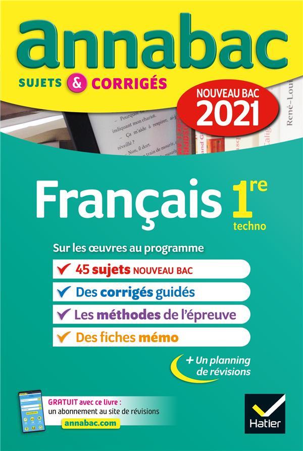 ANNALES DU BAC ANNABAC 2021 FR XXX HATIER SCOLAIRE