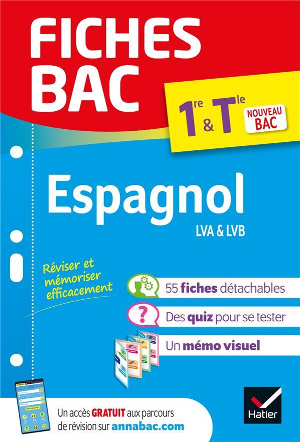 FICHES BAC ESPAGNOL 1RE/TLE (T XXX HATIER SCOLAIRE