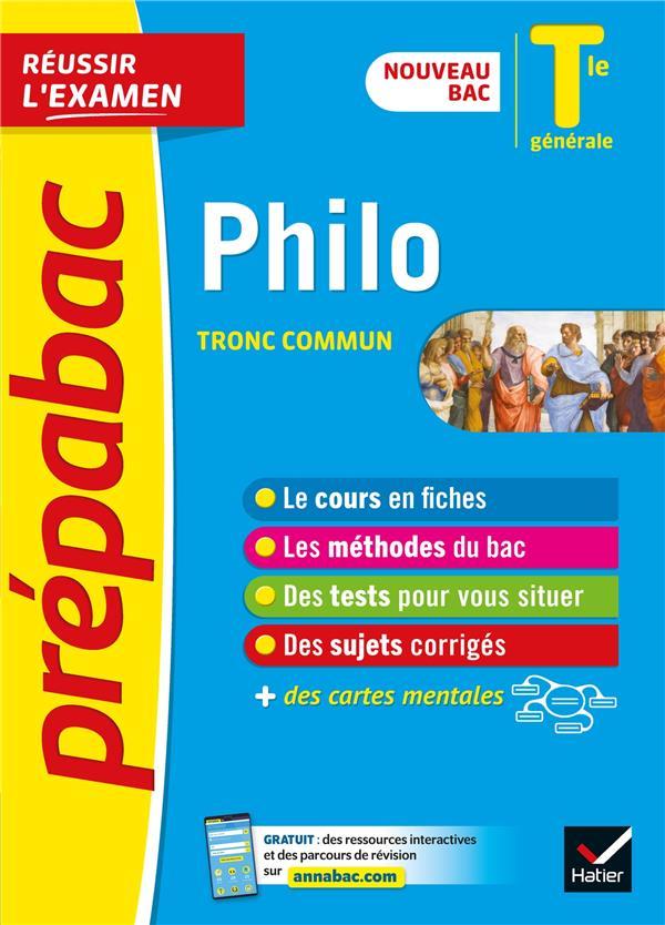 PREPABAC REUSSIR L'EXAMEN  -  PHILOSOPHIE, TRONC COMMUN  -  TERMINALE GENERALE (EDITION 20202021)
