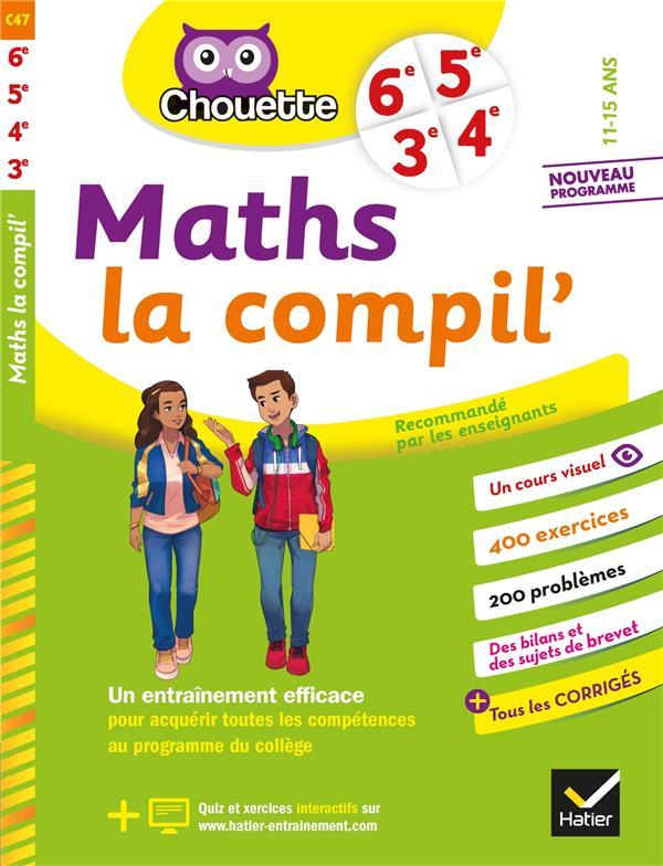 CHOUETTE ENTRAINEMENT  -  MATHS LA COMPIL'  -  6E, 5E, 4E, 3E
