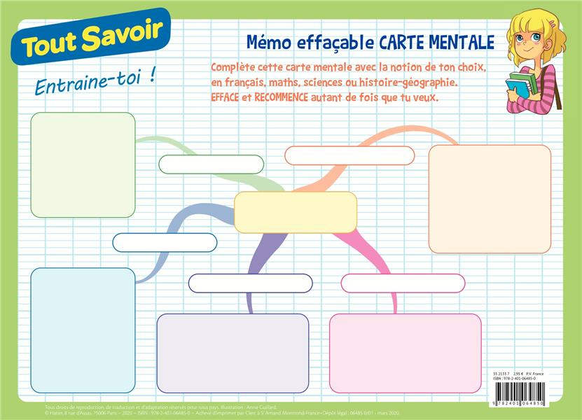 TOUT SAVOIR  -  MEMO EFFACABLE CARTE MENTALE
