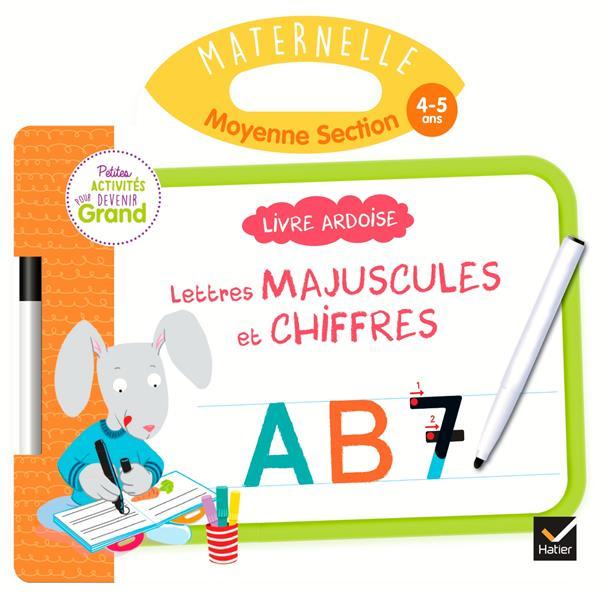 LIVRE ARDOISE  -  MS  -  LETTRES MAJUSCULES ET CHIFFRES