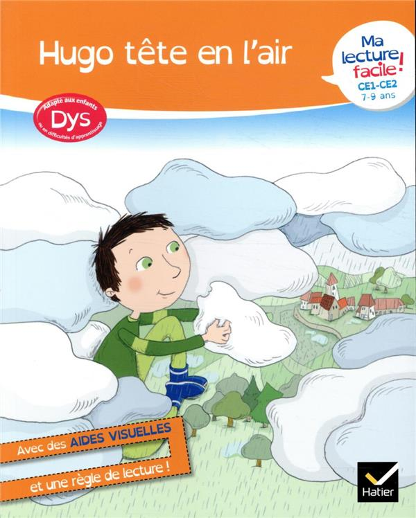 MA LECTURE FACILE  -  HUGO TETE EN L'AIR  -  DYS BARGE/OVERZEE HATIER SCOLAIRE