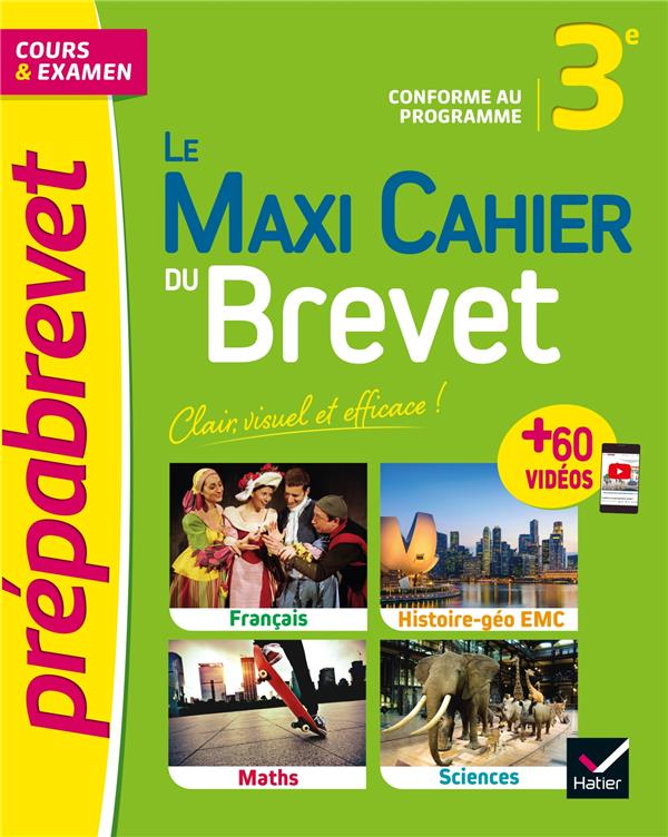 LE MAXI CAHIER DU BREVET - PRE XXX HATIER SCOLAIRE