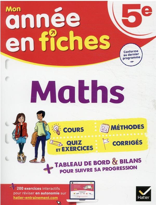 MATHS 5E - FICHES DE REVISION DE REGGI/QUINTON HATIER SCOLAIRE