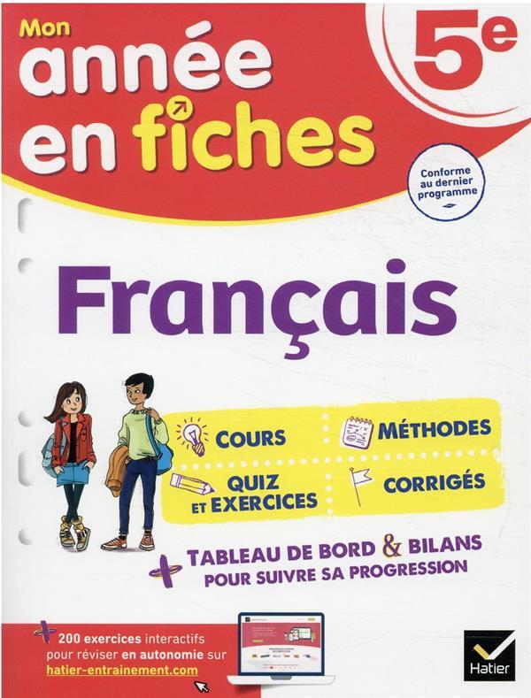 MON ANNEE EN FICHES  -  FRANCAIS  -  5E BEHLOULI/CORBET HATIER SCOLAIRE