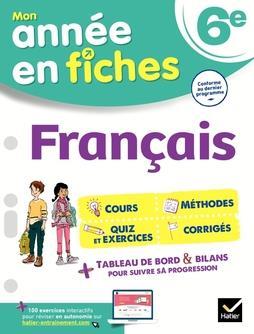 MON ANNEE EN FICHES  -  FRANCAIS  -  6E PERROT GAELLE HATIER SCOLAIRE