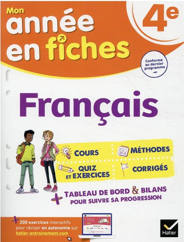 FRANCAIS 4E - FICHES DE REVISI RICARD/VERRIER HATIER SCOLAIRE