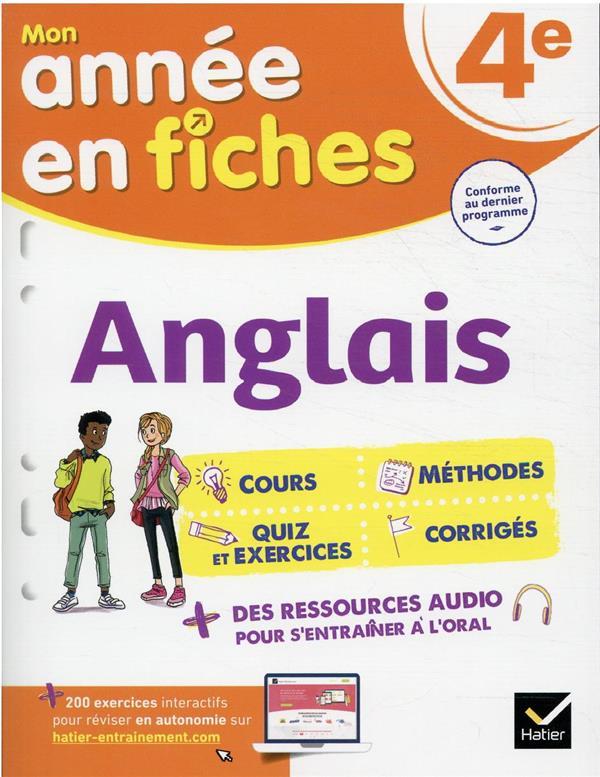 ANGLAIS 4E - FICHES DE REVISIO PREVOT/COLLARD HATIER SCOLAIRE
