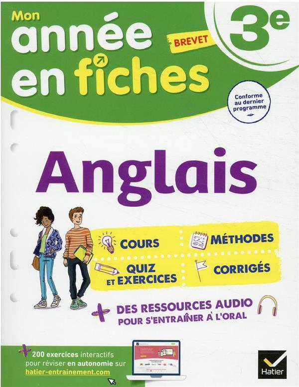 ANGLAIS 3E - FICHES DE REVISIO PREVOT/BIGNAUX HATIER SCOLAIRE