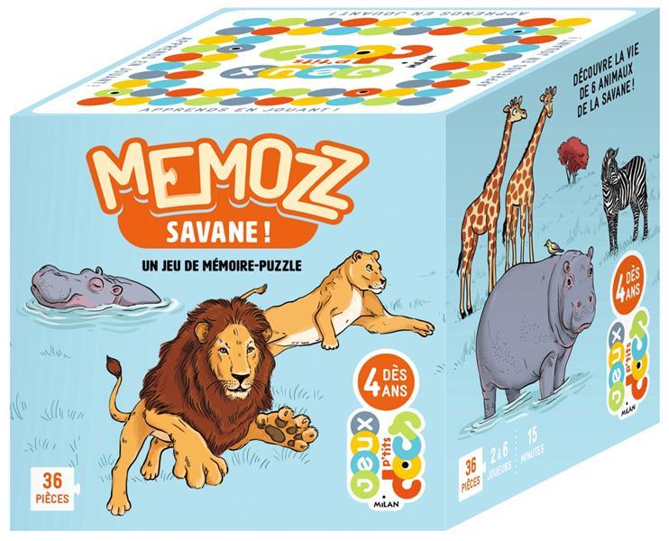 MEMOZZ SAVANE !  -  UN JEU DE MEMOIRE-PUZZLE ROY CAMILLE NC