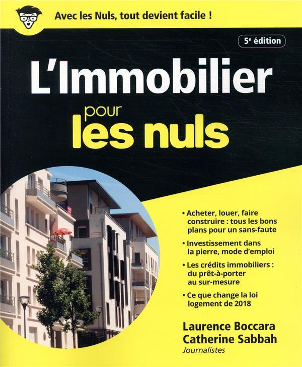 L-IMMOBILIER POUR LES NULS BOCCARA/SABBAH FIRST