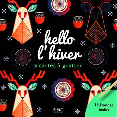 HELLO L'HIVER  -  6 CARTES A GRATTER MAGANO LISA NC