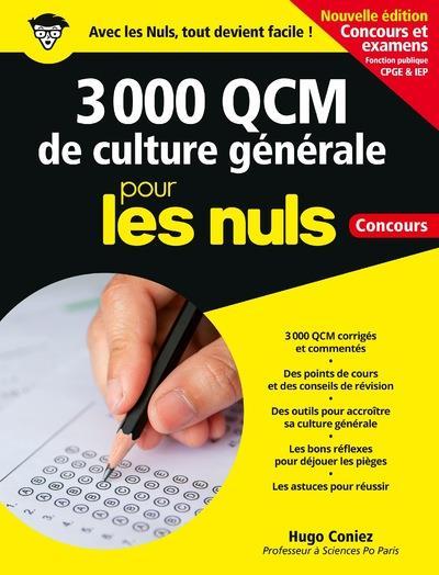 3 000 QCM DE CULTURE GENERALE POUR LES NULS  -  CONCOURS CONIEZ HUGO FIRST