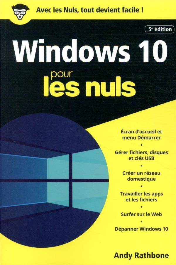WINDOWS 10 POCHE POUR LES NULS (5E EDITION) CANO, JEAN-PIERRE  FIRST
