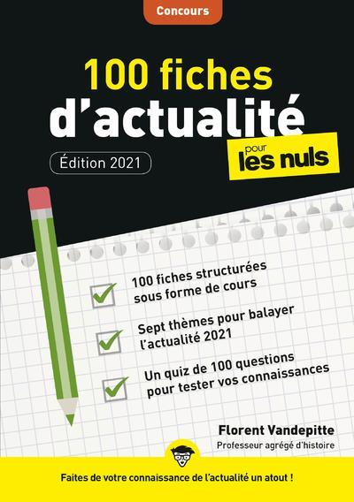 100 FICHES D'ACTUALITE POUR LES NULS  -  CONCOURS (3E EDITION) VANDEPITTE, FLORENT FIRST