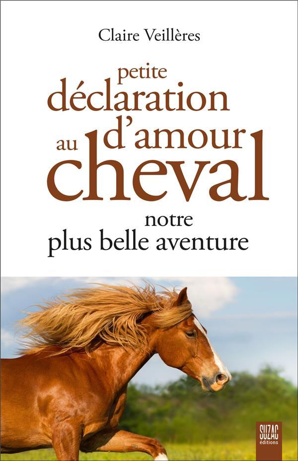 PETITE DECLARATION D'AMOUR AU CHEVAL, NOTRE PLUS BELLE AVENTURE VEILLERES CLAIRE DU LUMIGNON