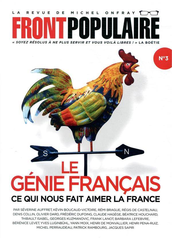 FRONT POPULAIRE - NUMERO 3 - VOL03 ONFRAY, MICHEL NC
