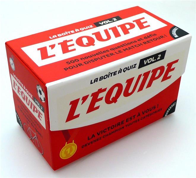 LA NOUVELLE BOITE A QUIZ L'EQUIPE GEORGES PIERRE Marabout