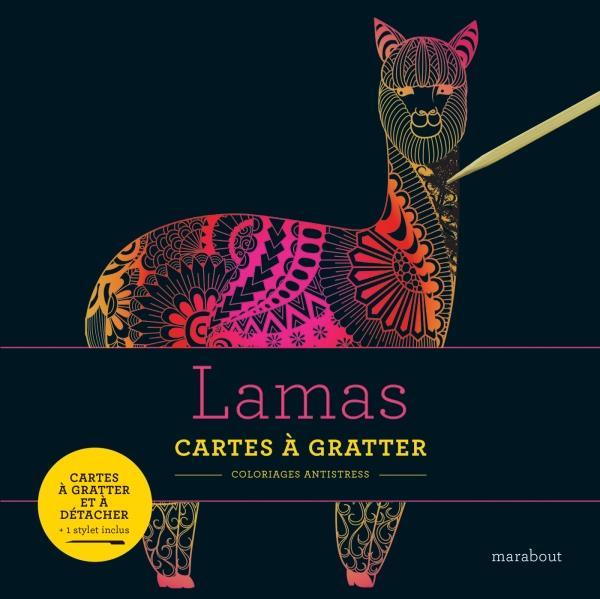 LIVRE A GRATTER : LAMAS  MARABOUT