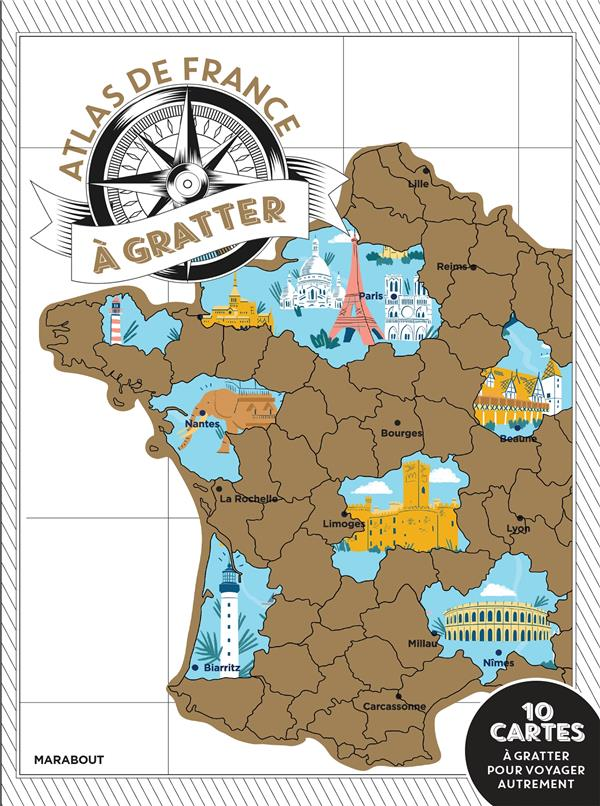 MON ATLAS DE FRANCE A GRATTER