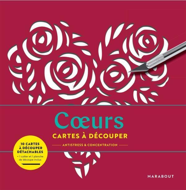 CARTES A DECOUPER  -  COEURS COLLECTIF NC
