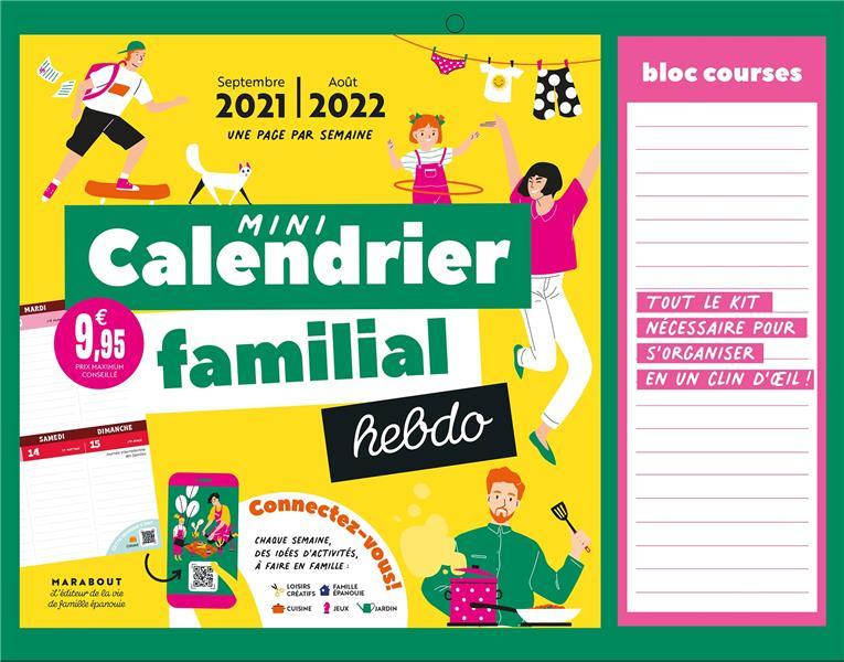 MINI CALENDRIER FAMILIAL HEBDO (EDITION 20212022) COLLECTIF NC