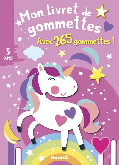MON LIVRET DE GOMMETTES  -  LICORNE  -  3 ANS